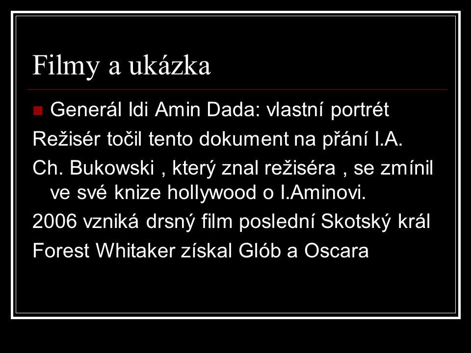 Filmy a ukázka Generál Idi Amin Dada: vlastní portrét Režisér točil tento dokument na přání I.A.