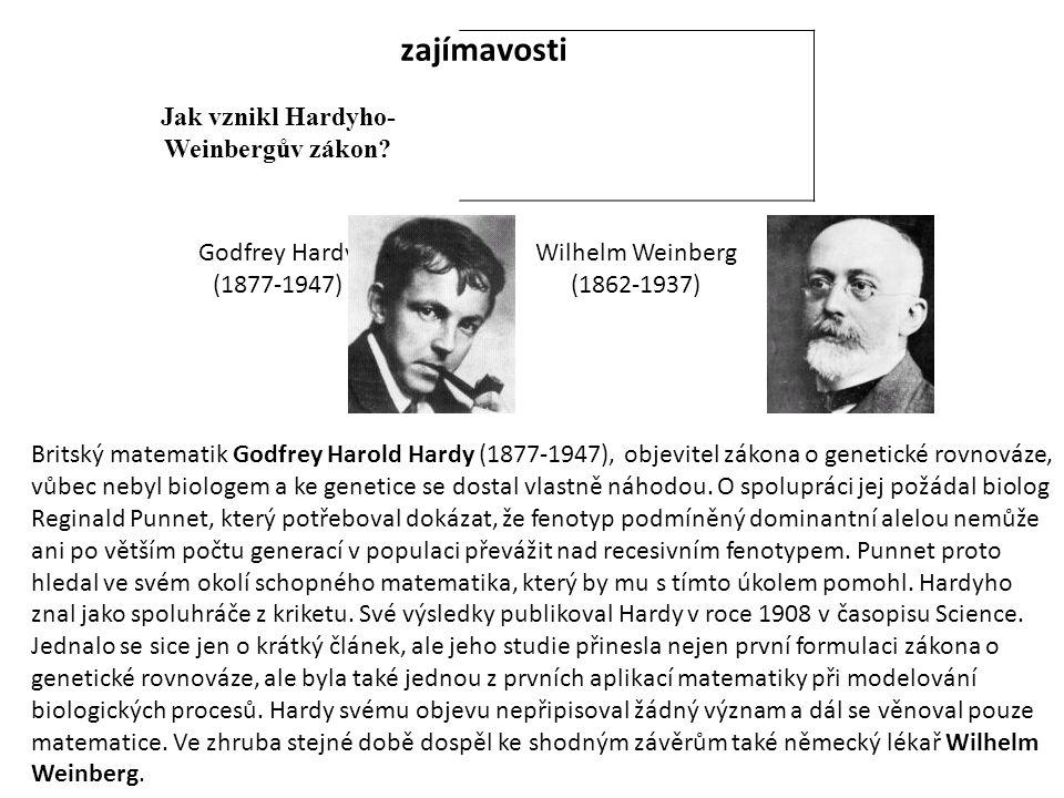 Jak vznikl Hardyho- Weinbergův zákon.