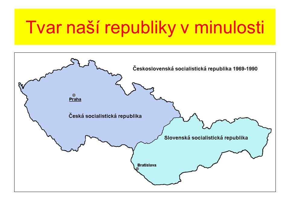 Text a otázka k předchozí mapě V minulosti jsme se Slovenskou republikou tvořili jeden stát.