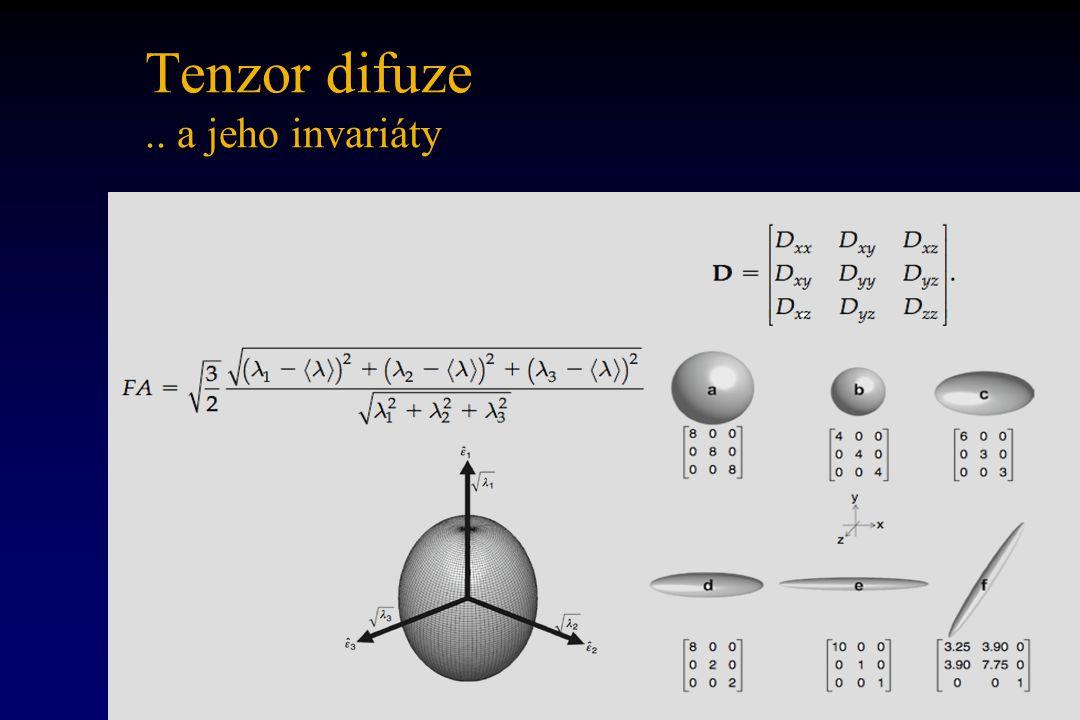 Tenzor difuze.. a jeho invariáty
