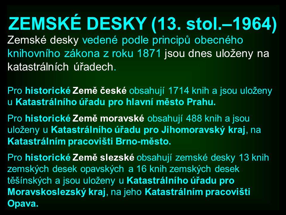 ZEMSKÉ DESKY (13.