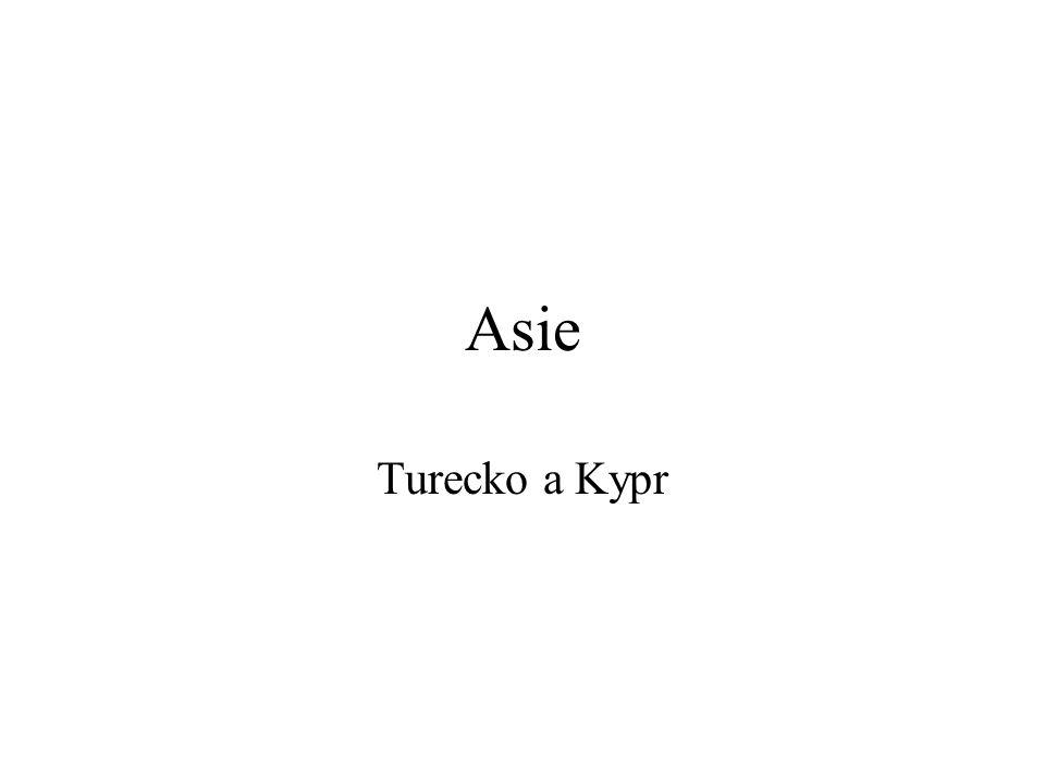 Asie Největší a nejlidnatější světadíl Velmi rozmanité přírodní i socioekonomické podmínky Jihozápadní Asie Středomořské, arabské a perské státy Hlavní oblast v Levantě (Turecko, Kypr a Izrael), velké bezpečnostní problémy Čeští turisté – pobytové (Kypr, Turecko) a poznávací zájezdy (Turecko, Izrael)