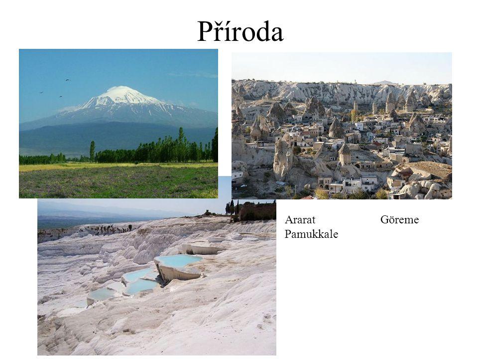 Příroda AraratGöreme Pamukkale