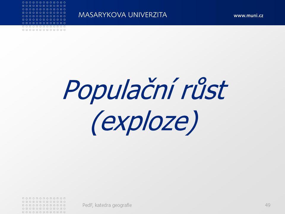 PedF, katedra geografie49 Populační růst (exploze)