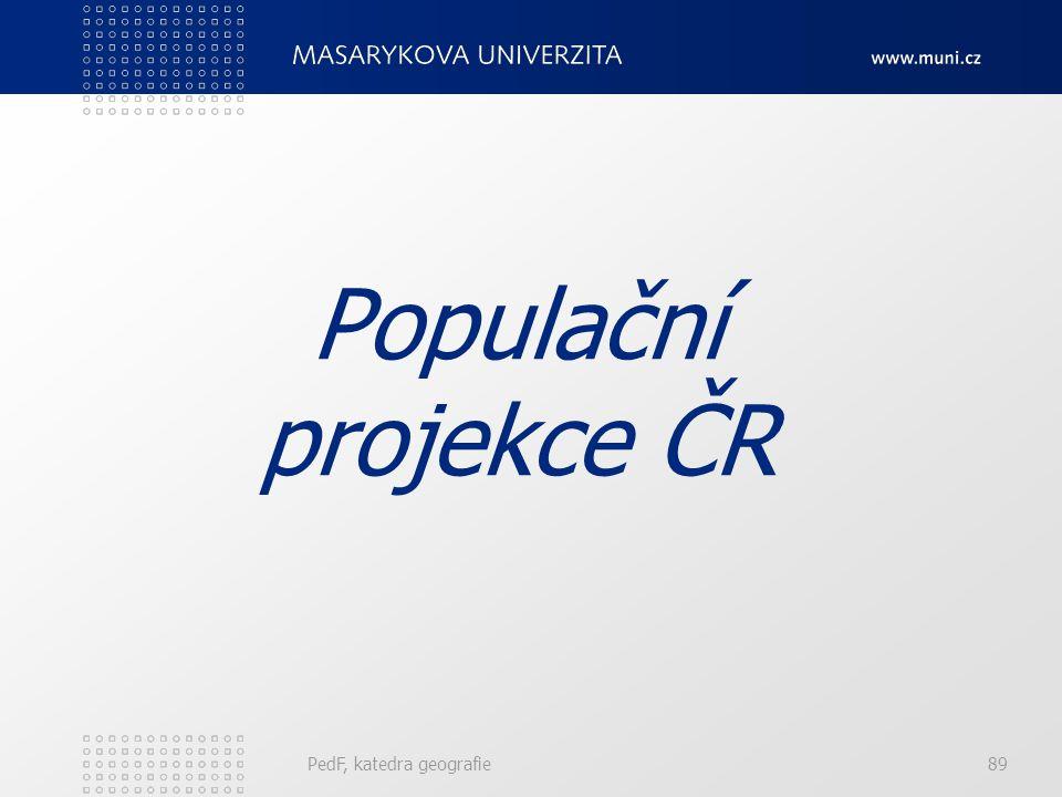 PedF, katedra geografie89 Populační projekce ČR