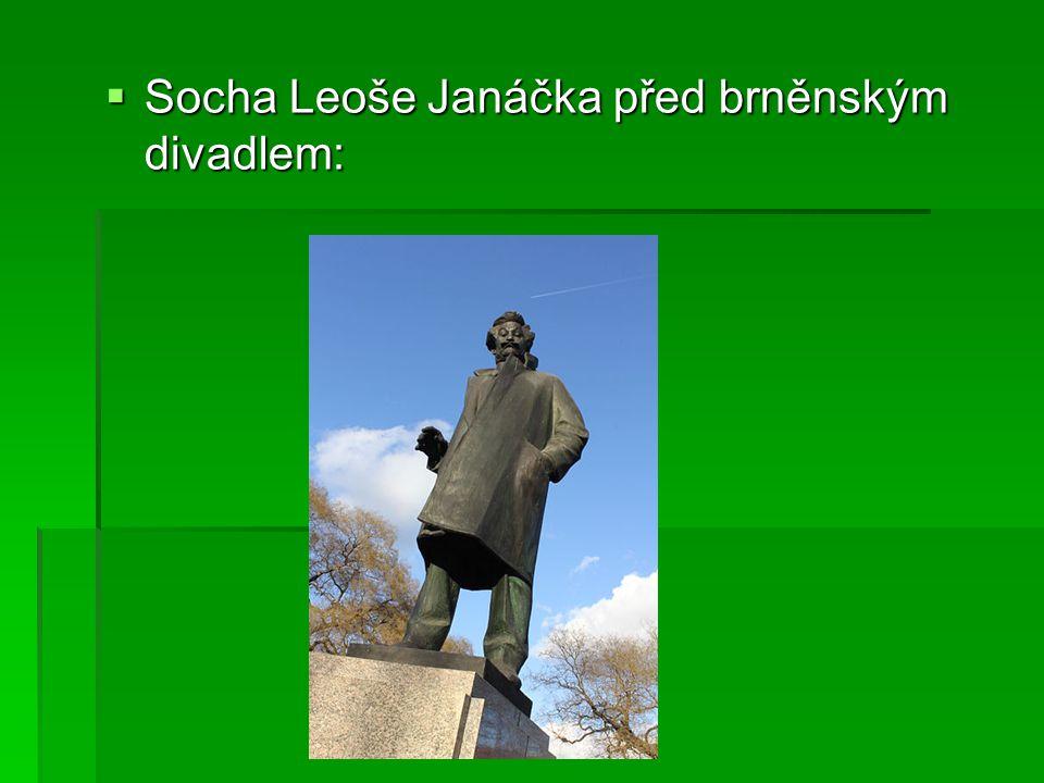  Socha Leoše Janáčka před brněnským divadlem: