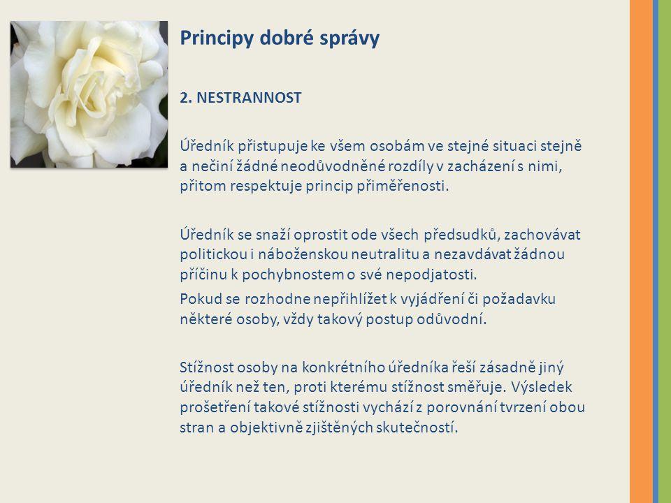 Principy dobré správy 2.