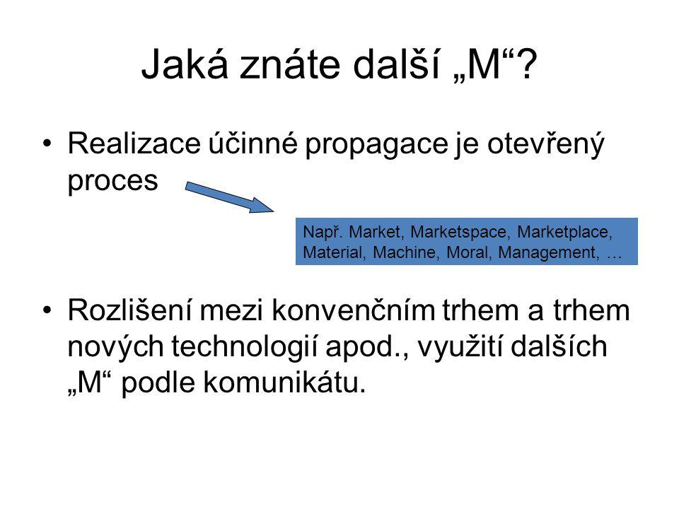"""Realizace účinné propagace vyjádřená na modelu """"5M ."""