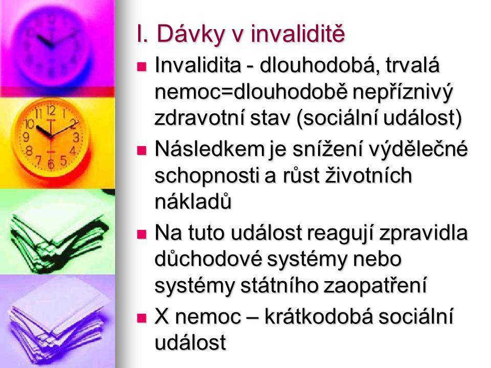 Ve všech evropských systémech se invalidita určuje odborným posouzením zdravotního stavu, (formulář E213)při přiznání dávky a periodický přezkum jako podmínka pokračování ve výplatě dávky.