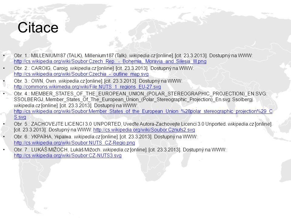 Citace Obr. 1.: MILLENIUM187 (TALK), Millenium187 (Talk). wikipedia.cz [online]. [cit. 23.3.2013]. Dostupný na WWW: http://cs.wikipedia.org/wiki/Soubo