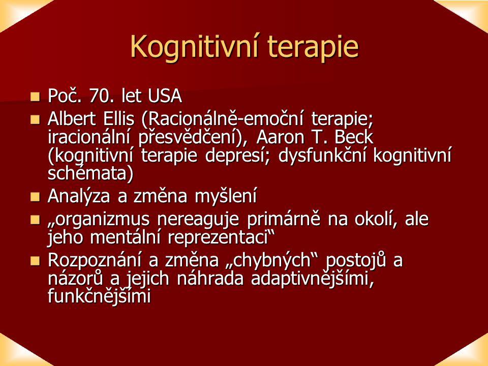 Kognitivní terapie Poč.70. let USA Poč. 70.