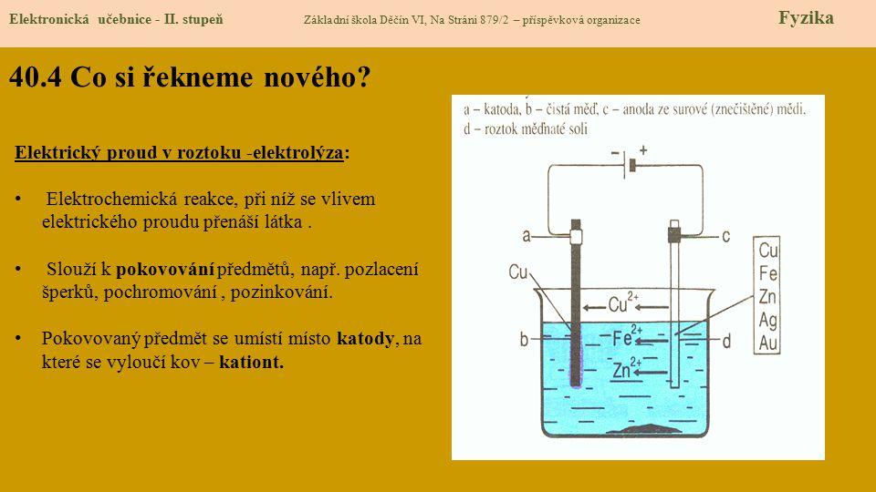 40.4 Co si řekneme nového.Elektronická učebnice - II.