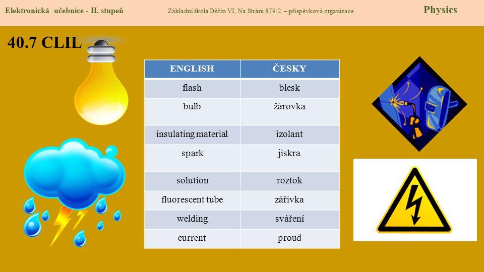 40.8 Test znalostí Správné odpovědi: 1.c 2.b 3.d 4.a Test na známku Elektronická učebnice - II.