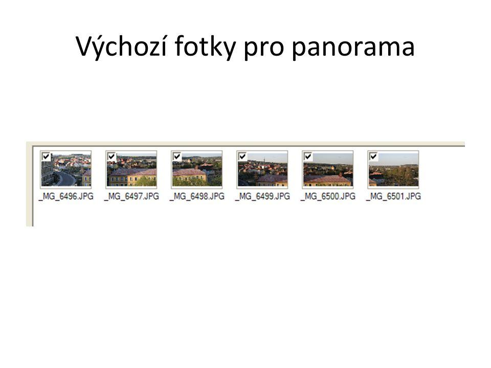 Výchozí fotky pro panorama