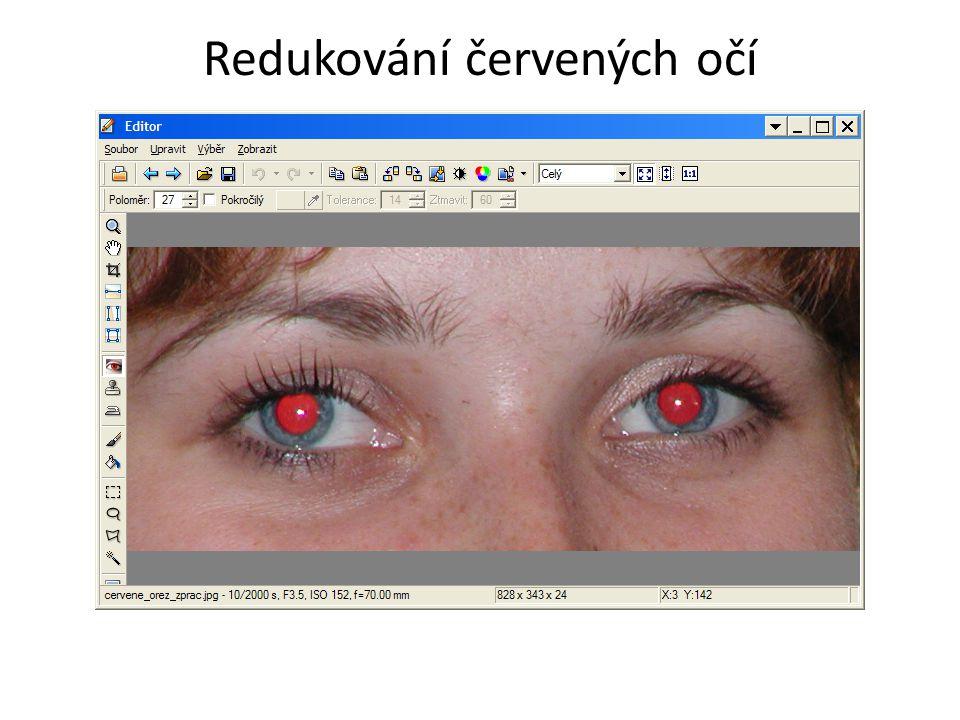 Redukování červených očí
