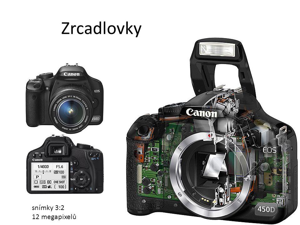 Zrcadlovky snímky 3:2 12 megapixelů