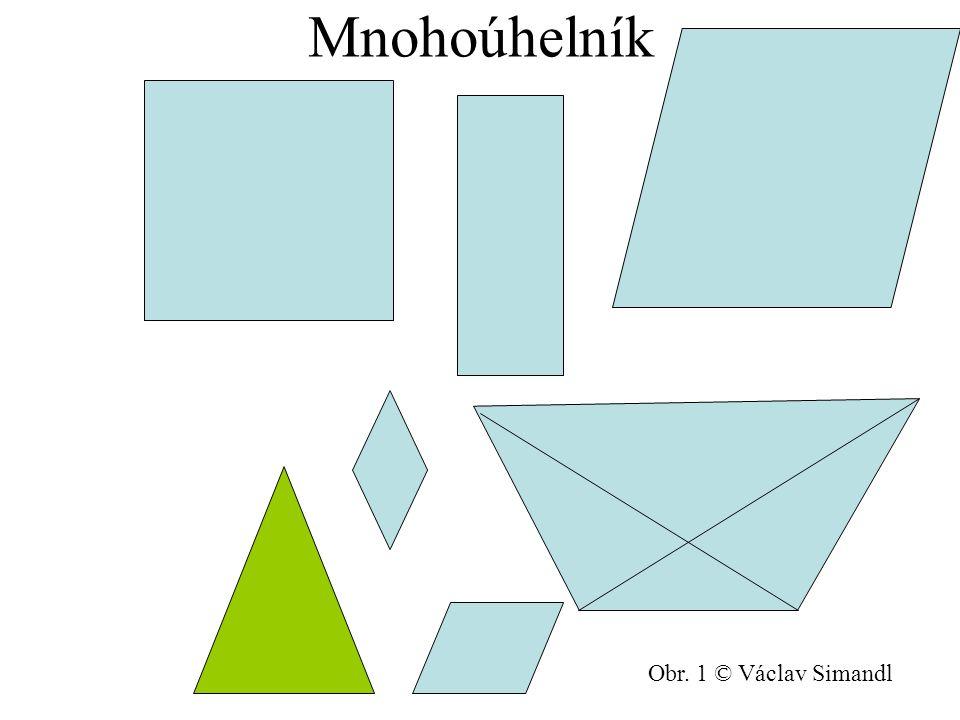 Obsah lichoběžníka S = 1 (a + c). v 2 Obr. 9 © Václav Simandl