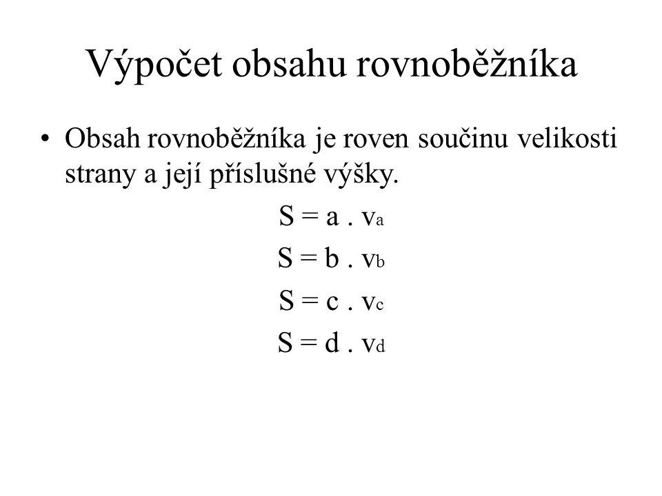 Výpočet obsahu kosočtverce pomocí úhlopříček S = 1 u 1. u 2 2 u 1 u 2 Obr. 4 © Václav Simandl
