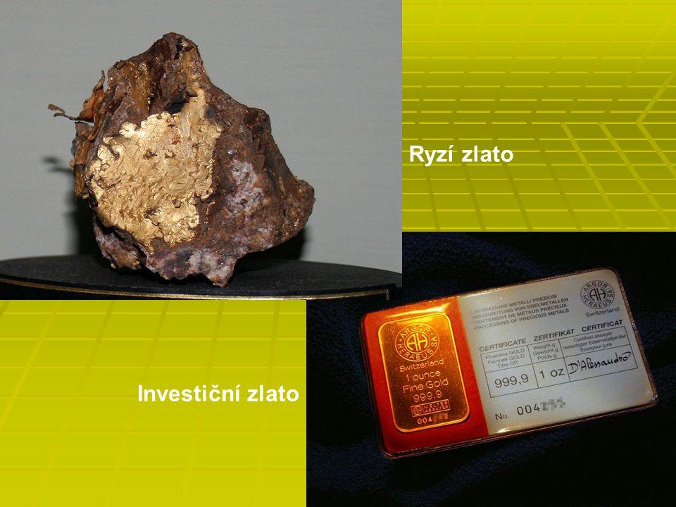 Ryzí zlato Investiční zlato