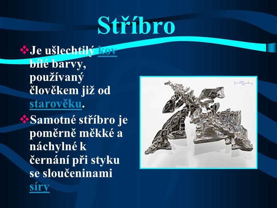 Ane ž ka Šebková Stříbro Ag (lat. Argentum)