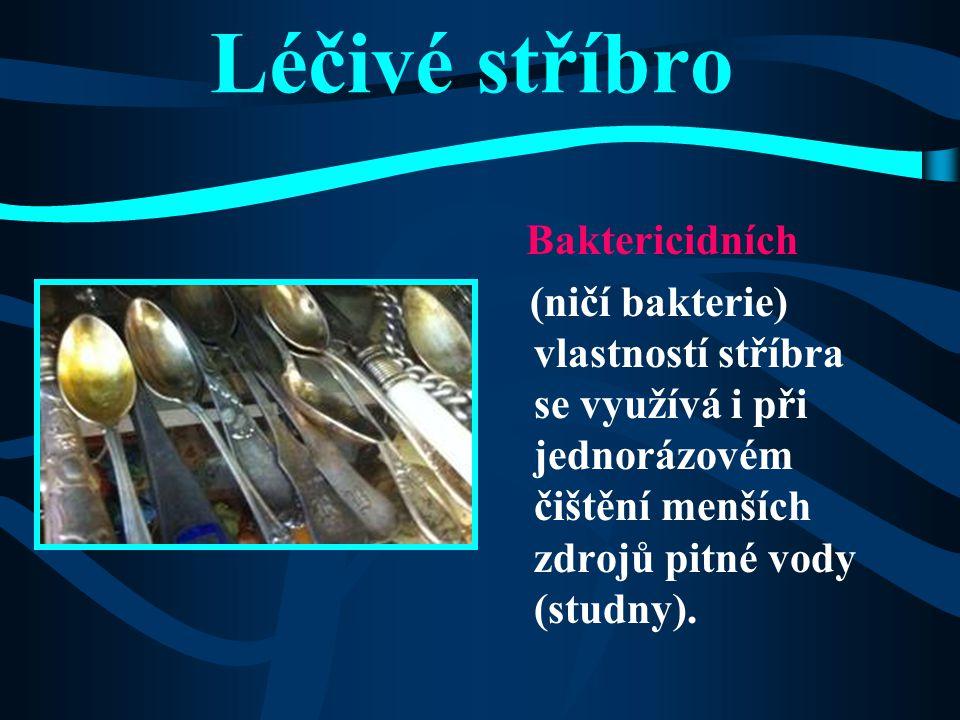 Historie stříbra  V Čechách se ve středověku dobývalo značné množství stříbrných rud.