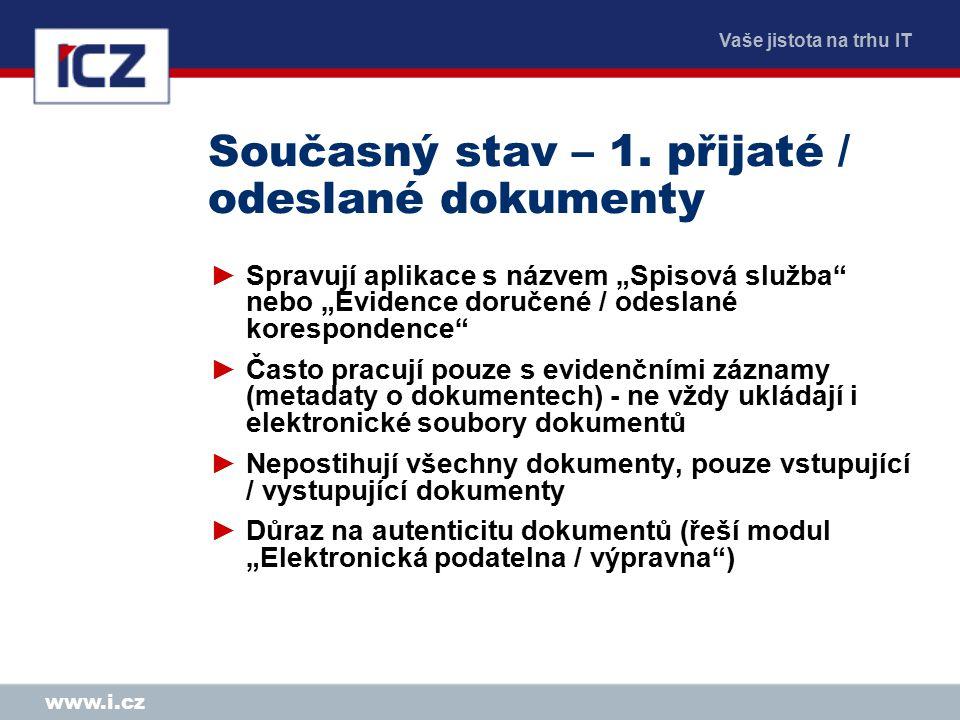 Vaše jistota na trhu IT www.i.cz Metadata ►Poskytují důležité informace o dokumentu, které (většinou) nelze zjistit přímo z něj.