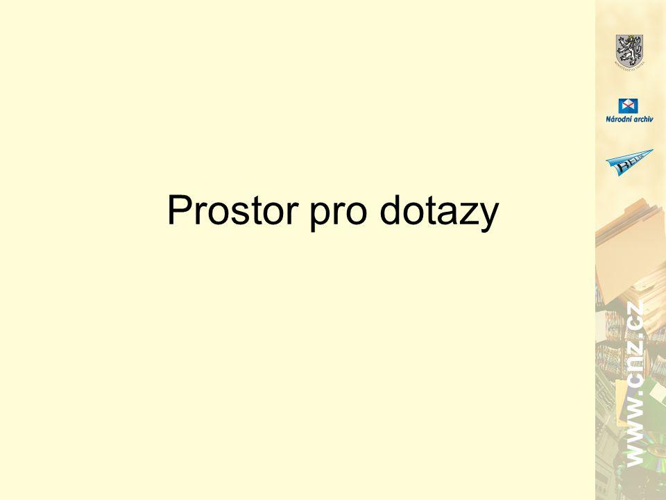 www.cnz.cz Prostor pro dotazy