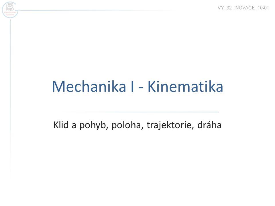 Kinematika popisuje pohyb tělesa bez ohledu na jeho příčiny.