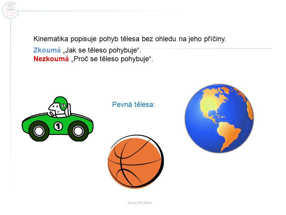 Pro zjednodušení popisu pohybu těles zavedeme pojem: Hmotný bod Hmotný bod je fyzikální model tělesa, pro který platí: - má hmotnost rovnou hmotnosti tělesa - zanedbáváme jeho tvar a rozměry http://www.educol.net/image-autobus-i15211.html název obrázku: Image autobus autor: © colorpix.be