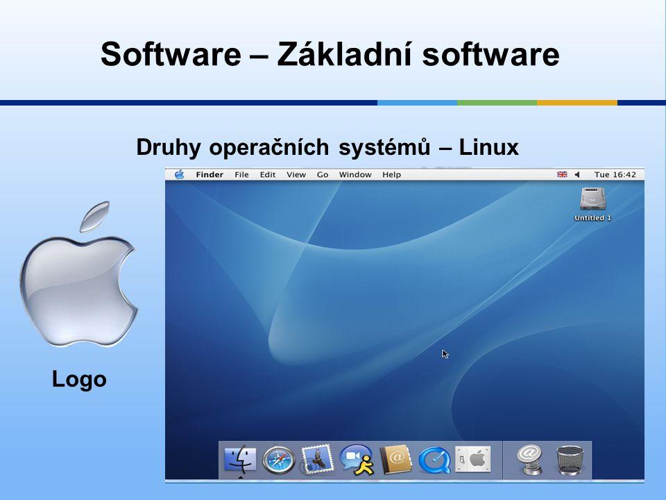 Software – Základní software Druhy operačních systémů – Linux Logo