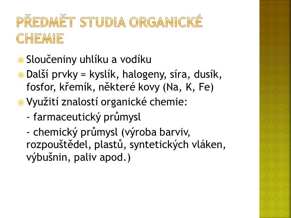  Elektronová konfigurace: 1s 2 2s 2 2p 2  První prvek IV.A skupiny  Typický představitel nekovů  Výskyt v přírodě: - grafit - diamant - ve sloučeninách (anorganické = CO 2, H 2 CO 3, uhličitany) - zejména v organických sloučeninách a přírodních látkách (tuky, vitaminy, cukry)