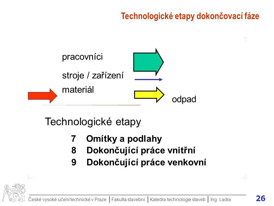 26 České vysoké učení technické v Praze Fakulta stavební Katedra technologie staveb II I Ing.