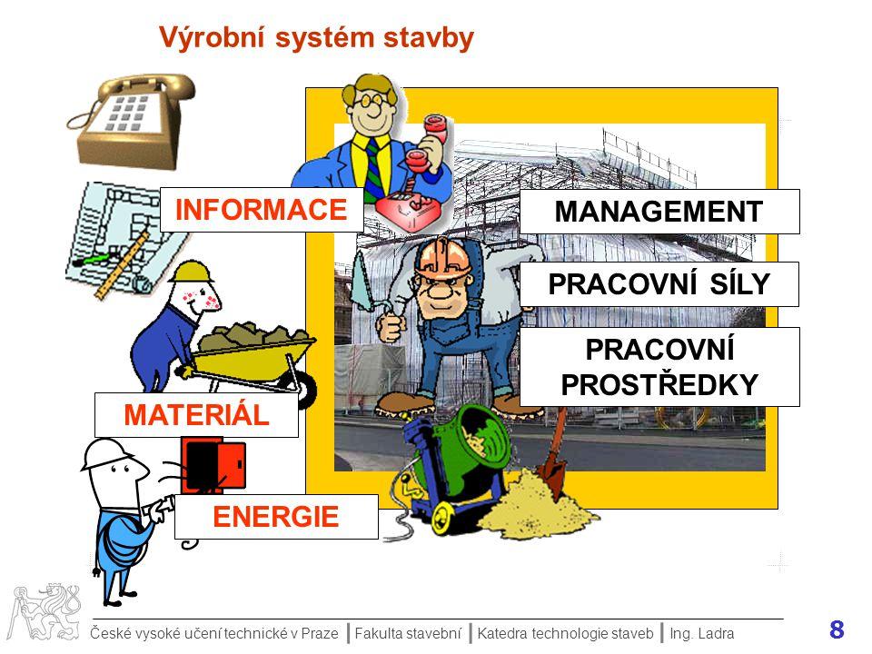 9 České vysoké učení technické v Praze Fakulta stavební Katedra technologie staveb II I Ing.
