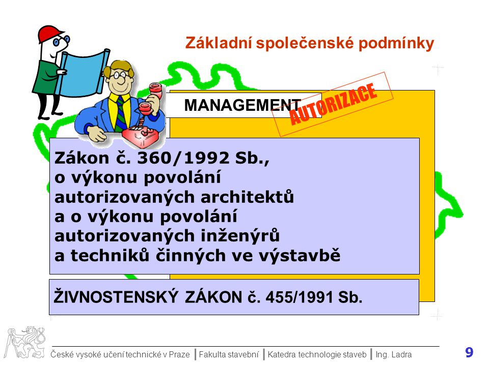 10 České vysoké učení technické v Praze Fakulta stavební Katedra technologie staveb II I Ing.
