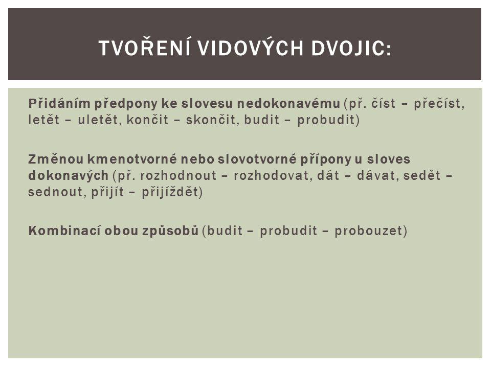 Některá slovesa vyjadřují svým tvarem oba vidy, konkrétní vid určíme na základě kontextu (př.