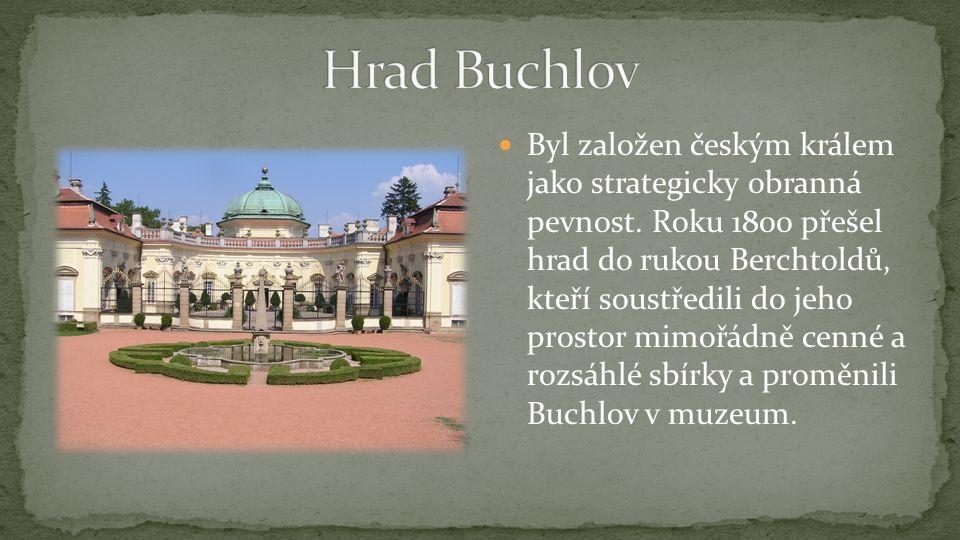 Byl založen českým králem jako strategicky obranná pevnost. Roku 1800 přešel hrad do rukou Berchtoldů, kteří soustředili do jeho prostor mimořádně cen