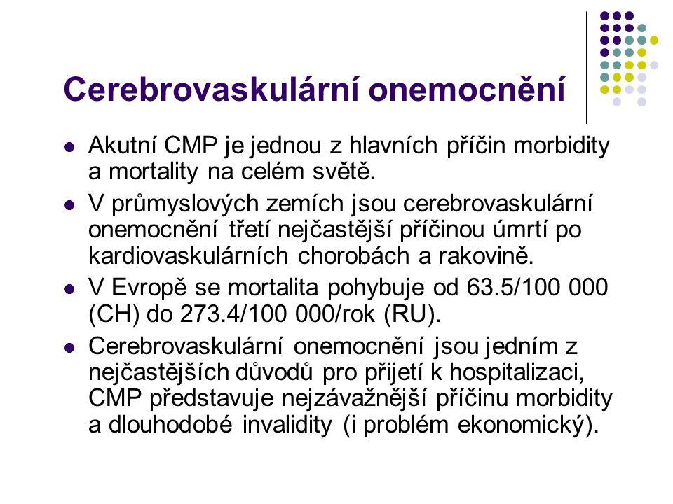 Rizikové faktory Prevence cerebrovaskulárních onemocnění významně snižuje jejich mortalitu i dlouhodobou invaliditu.