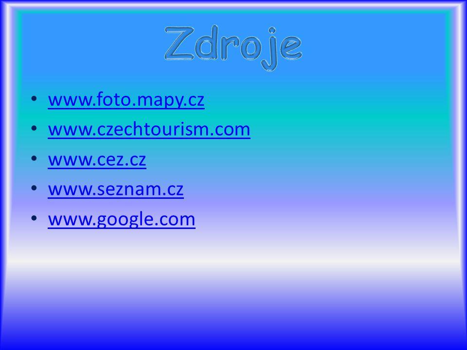 www.foto.mapy.cz www.czechtourism.com www.cez.cz www.seznam.cz www.google.com