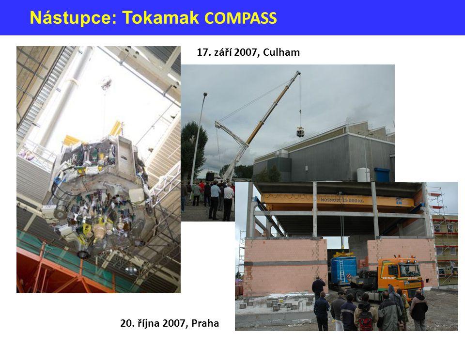 Nástupce: Tokamak COMPASS 17. září 2007, Culham 20. října 2007, Praha