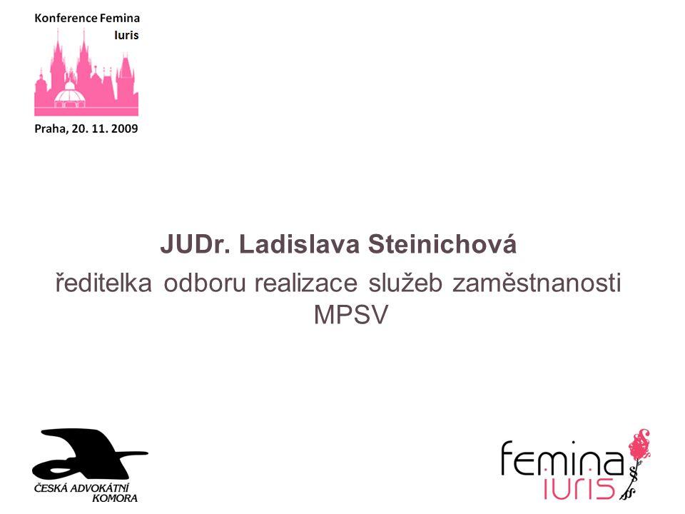 JUDr. Ladislava Steinichová ředitelka odboru realizace služeb zaměstnanosti MPSV