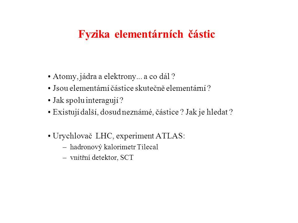 Fyzika elementárních částic Atomy, jádra a elektrony...