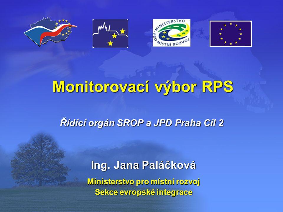 Monitorovací výbor RPS Ing.