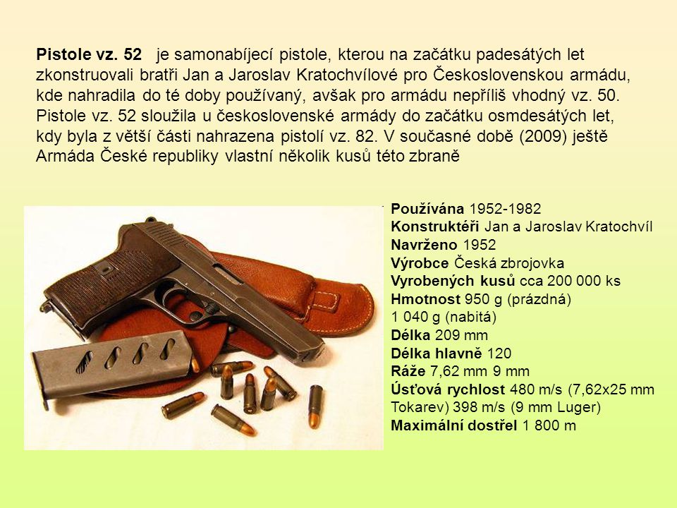Pistole vz. 24 byla československá standardní armádní pistole, používaná v meziválečném období Typ samonabíjecí pistole Ve službě Československo, Něme