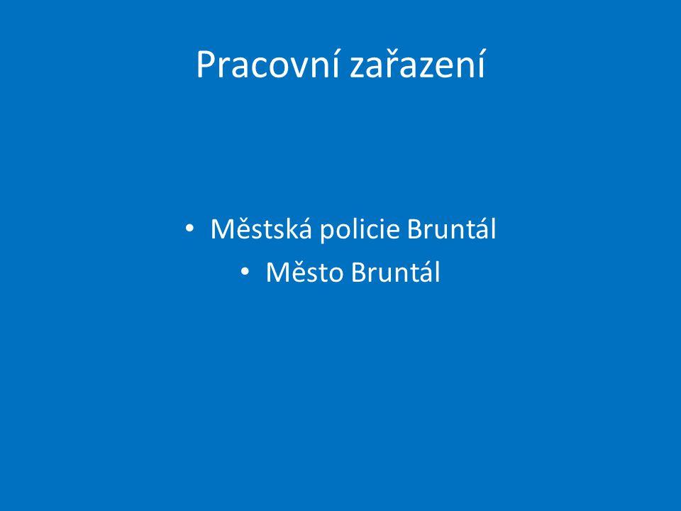 Pracovní zařazení Městská policie Bruntál Město Bruntál