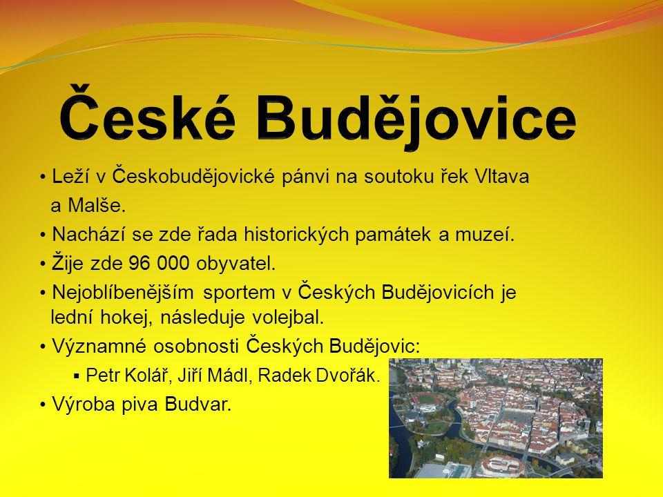 Leží v Českobudějovické pánvi na soutoku řek Vltava a Malše.