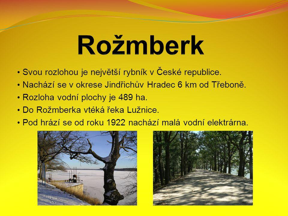 Svou rozlohou je největší rybník v České republice.