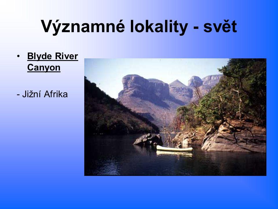 Významné lokality - svět Blyde River Canyon - Jižní Afrika