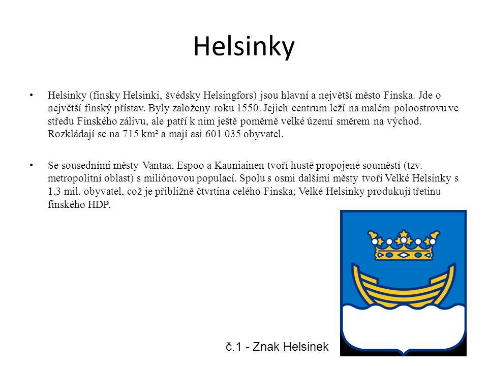 Helsinky Helsinky (finsky Helsinki, švédsky Helsingfors) jsou hlavní a největší město Finska. Jde o největší finský přístav. Byly založeny roku 1550.