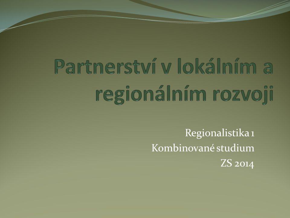 Regionalistika 1 Kombinované studium ZS 2014