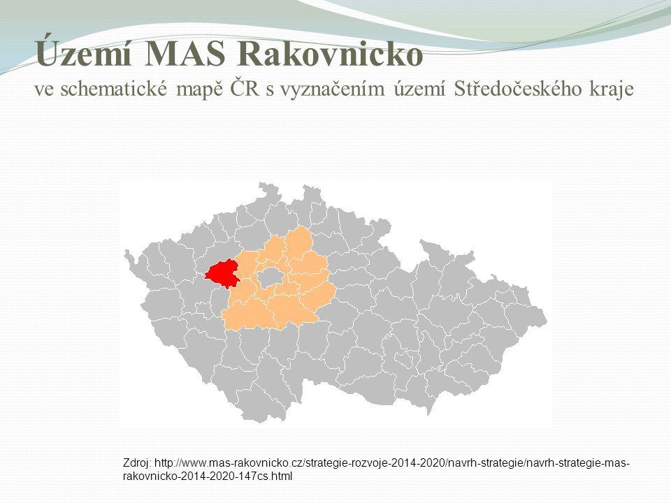 Území MAS Rakovnicko ve schematické mapě ČR s vyznačením území Středočeského kraje Zdroj: http://www.mas-rakovnicko.cz/strategie-rozvoje-2014-2020/nav